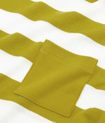 T-shirt maniche corte uomo giallo Bamboo / bianco Marshmallow