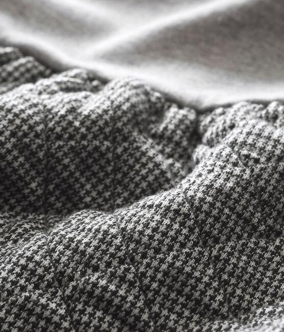Abito doppio tessuto per bebé femmina grigio Subway / bianco Multico